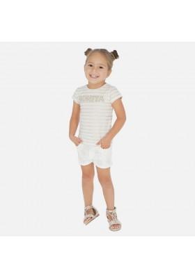 Pantalon corto aplicaciones de MAYORAL para niña modelo 3277
