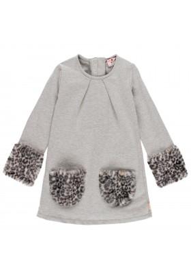Vestido punto combinado de niña Boboli modelo 441133