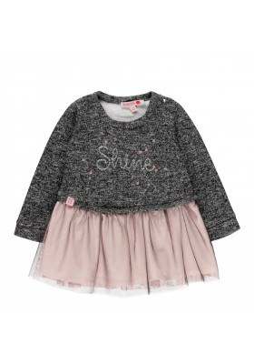 Vestido punto combinado de bebé niña Boboli modelo 241052