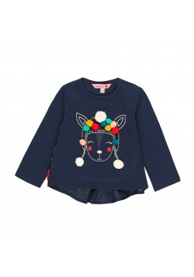Camiseta punto flamé de bebé niña Boboli modelo 231040