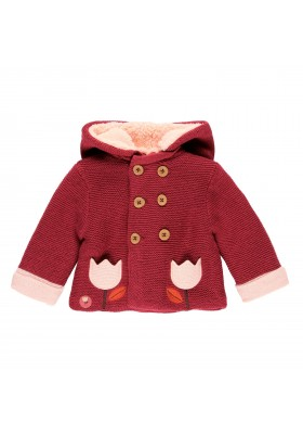 Chaqueta tricotosa con capucha de bebé n Boboli modelo 121060