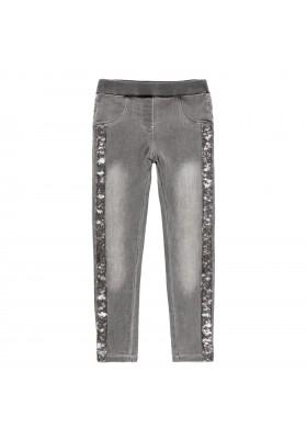 Pantalón denim punto elástico de niña Boboli modelo 401016
