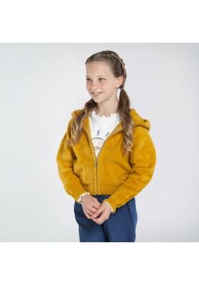 Chaqueta tricot pelo Niña de Mayoral modelo 7338