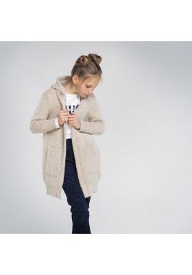 Chaqueta larga tricot capucha Niña de Mayoral modelo 7334