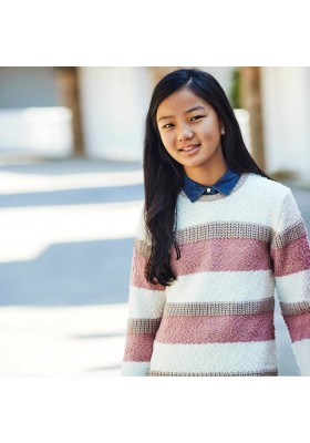 Jersey tricot rayas Niña de Mayoral modelo 7327