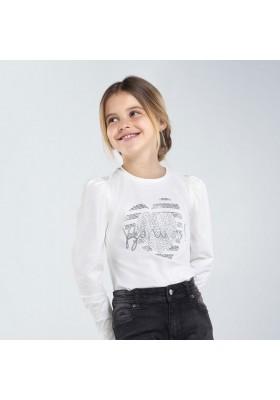 "Camiseta manga larga ""bonita"" Niña de Mayoral modelo 7066"