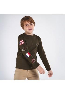 Camiseta manga larga mangas estampada Niño de Mayoral modelo 7048