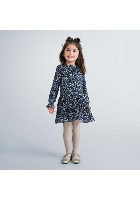 Vestido invierno gasa corazones niña de Mayoral modelo 4975