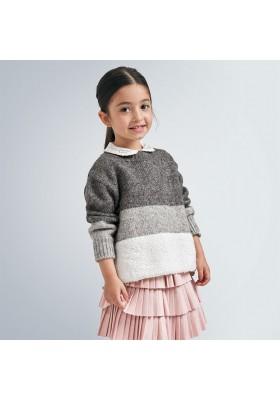 Jersey franjas bucle niña de Mayoral modelo 4348