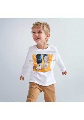 "Camiseta manga larga ""here i am"" niño de Mayoral modelo 4057"