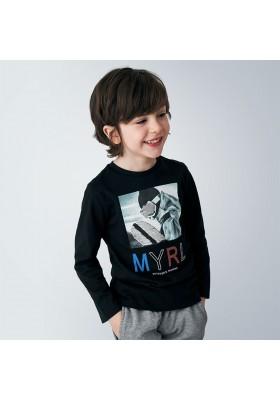 Camiseta manga larga lentejuelas niño de Mayoral modelo 4052