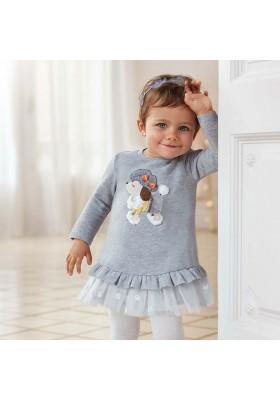 Vestido invierno felpa tul bebe niña de Mayoral modelo 2965