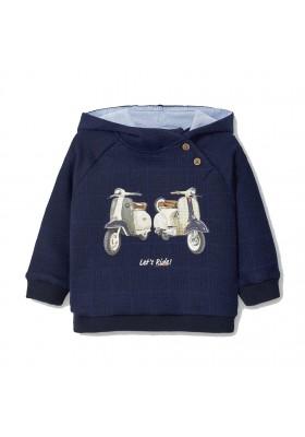 Sudadera capucha cuadros Bebe niño de Mayoral modelo 2475