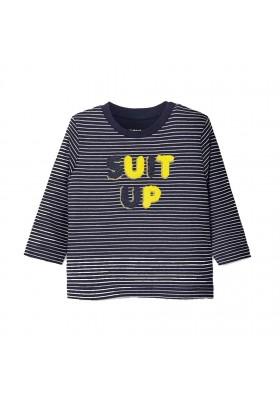 Camiseta manga larga rayas Bebe niño de Mayoral modelo 2038