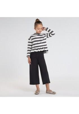 Conjunto pantalon cropped rayas Niña de Mayoral modelo 7545