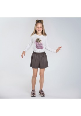 Camiseta manga larga niña bufanda Niña de Mayoral modelo 7070