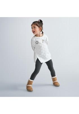 Conjunto leggins jacquard topos niña de Mayoral modelo 4730
