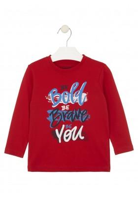 camiseta de manga larga con printde Losan para niño modelo 025-1634AL