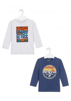 camiseta de manga larga con printde Losan para niño modelo 025-1207AL