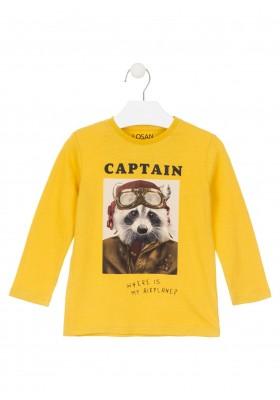 camiseta de manga larga con printde Losan para niño modelo 025-1023AL