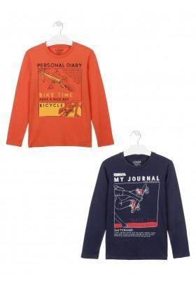 camiseta manga larga con print delanterode Losan para niño modelo 023-1202AL