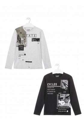 camiseta manga larga con print delanterode Losan para niño modelo 023-1201AL