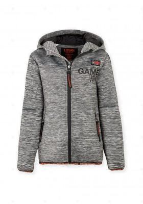 chaqueta polar con capuchade Losan para niño modelo 023-0001AL