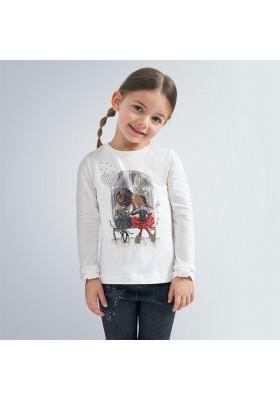 Camiseta manga larga puños lazo niña de Mayoral modelo 4067