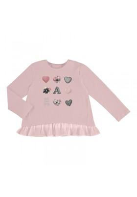 Camiseta manga larga corazones niña de Mayoral modelo 4063