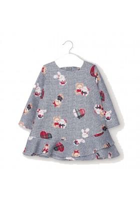 Vestido invierno felpa estampado bebe niña de Mayoral modelo 2963