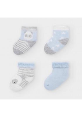 Set 4 calcetines rizo de Mayoral bebe niño modelo 9302