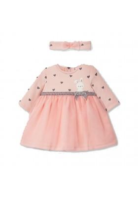 Vestido felpa con diadema de Mayoral bebe niña modelo 2874