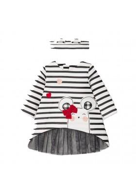 Vestido punto y diadema de Mayoral bebe niña modelo 2853