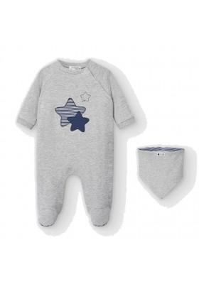 Set pijama y babero de Mayoral bebe niño modelo 2769