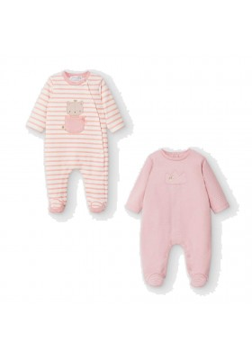 Set 2 pijamas de Mayoral bebe niña modelo 2757