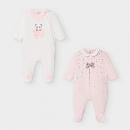 Set 2 pijamas tundosado de Mayoral bebe niña modelo 2752