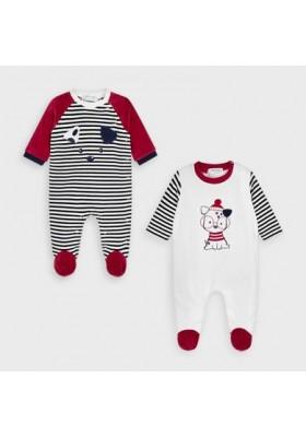Set 2 pijamas tundosado de Mayoral bebe niño modelo 2772