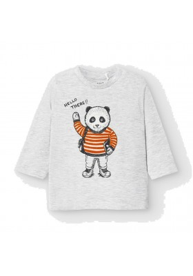 Camiseta manga larga panda Bebe niño de Mayoral modelo 2041