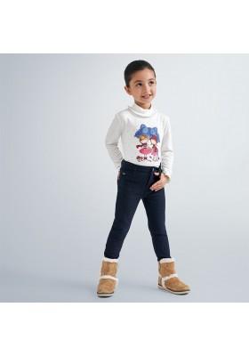 Pantalon largo felpa lurex niña de Mayoral modelo 4552