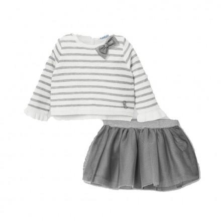 Conjunto falda tricot tul bebe niña de Mayoral modelo 2974