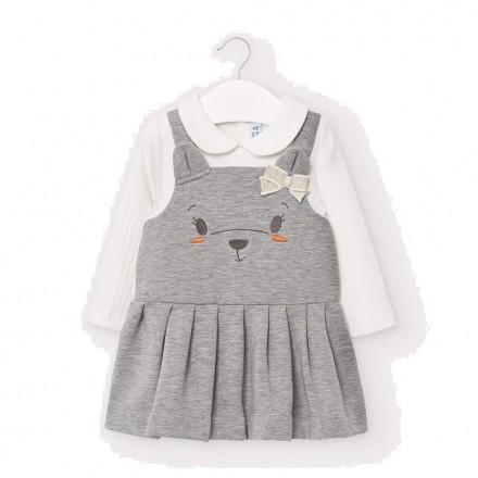 Vestido invierno perrita bebe niña de Mayoral modelo 2966