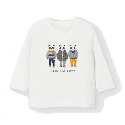 "Camiseta manga larga ""friends"" Bebe niño de Mayoral modelo 2043"