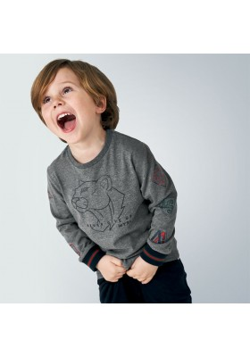 Camiseta manga larga print patente niño de Mayoral modelo 4044