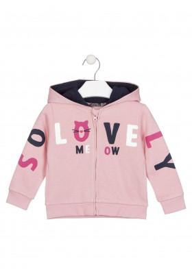 chaqueta de felpa perchada con capuchade Losan para niña modelo 026-6658AL