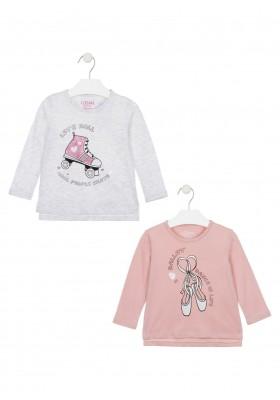 camiseta de manga larga con printde Losan para niña modelo 026-1207AL