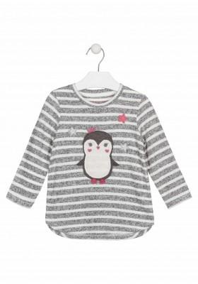 camiseta de manga larga con bordadode Losan para niña modelo 026-1027AL