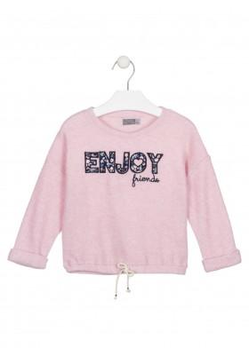 camiseta de manga larga con parchesde Losan para niña modelo 026-1015AL