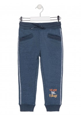 pantalon de felpa perchada con printde Losan para niño modelo 025-6014AL