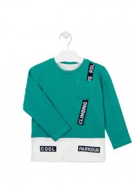 camiseta manga larga con bolsillode Losan para niño modelo 025-1006AL
