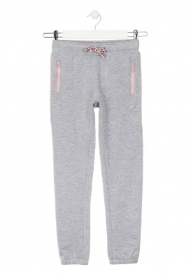 pantalon de felpa perchadade Losan para niña modelo 024-6028AL